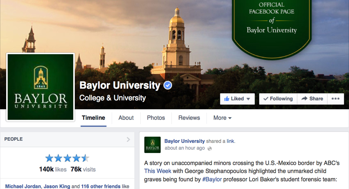 Official Baylor University Facebook page