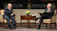 Rudy Giuliani joins President Starr on campus for 'On Topic' conversation