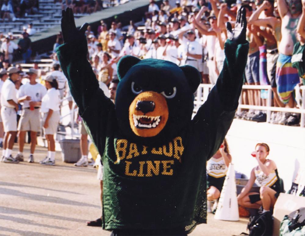 Baylor's green bear mascot